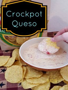 Enjoy this Crockpot Queso Recipe for gatherings or just a simple snack at home. Cheesy goodness with a hint of hot flavor makes this dish devine