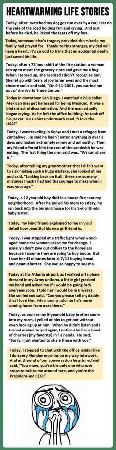 Beautiful heartwarming stories…