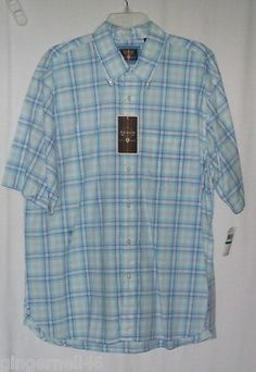 Arrow Shirt USA 1851 Blue Check Size Large Cotton New w/ Tag