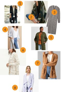 Long cardigans are a trend. We've shared our favorite eight picks in a variety of sizes and price points. And we've got styling tips too. #sweaters #fallstyle Fall Cardigan, Long Cardigan, Autumn Fashion Classy, Fall Fashion Outfits, Fashion Trends, Cardigans, Sweaters, Jeans Style, Styling Tips