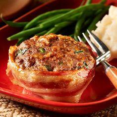 Cheesy Bacon Mini Meatloaves
