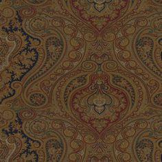 Ashbourne Paisley - Navy/Hunter - Paisley - Fabric - Products - Ralph Lauren Home - RalphLaurenHome.com