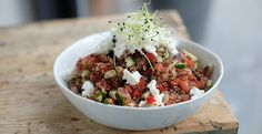 Rode quinoa tabouleh #workfood | Bye Bye Cheeseburger