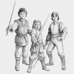 """The World of Ice and Fire - The sons of Princess Rhaenyra  """" (l to r): Jacaerys, Joffrey, and Lucerys  Artist: Douglas Wheatley  """""""