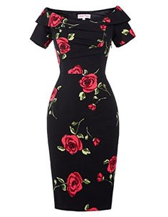Quality Women Summer Dress Vestidos Sexy Off The Shoulder Rose Print Bodycon Slim Pencil Dress Big Size Rockabilly Vintage Dresses with free worldwide shipping on AliExpress Mobile Vestidos Sexy, Vestidos Vintage, Vintage Dresses, Elegant Summer Dresses, Summer Dresses For Women, Sexy Dresses, Cute Dresses, Short Sleeve Dresses, Fashion Dresses