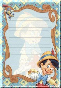 Pin was sent to me a disney charter Printable Lined Paper, Free Printable Stationery, Printable Templates, Disney Frames, Decoupage, Autograph Book Disney, Disney Scrapbook, Scrapbooking, Disney Printables