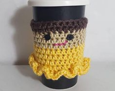 Princess Cup Cozy, Cup Cozy, Coffee Sleeve, Crochet Cup Cozy, Crochet Coffee Cozy, Mug Cozy, Mug Sleeve