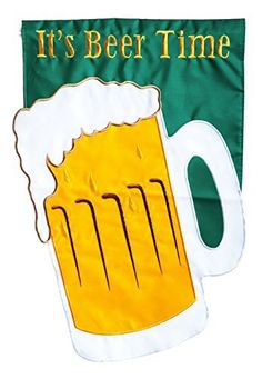 Outdoor Décor-Gifted Living Garden Applique Its Beer Time Flag 125 x 18 x 015 >>> For more information, visit image link.