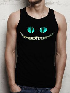 alice in wonderland cat men tank top print screen by DarkCoffe, $20.00