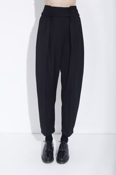 I LOVE this shape.  Adjustable organic wool trousers | Collections | Honest by