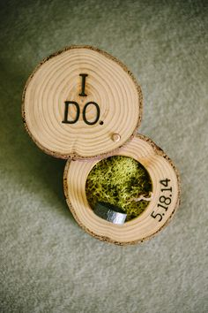 { wisp + whim: Wedding Wednesdays : Getting Ready : The Bride } Custom Wood Ring Box by End Grain Wood Shoppe // Photo credit: heidi-o-photo