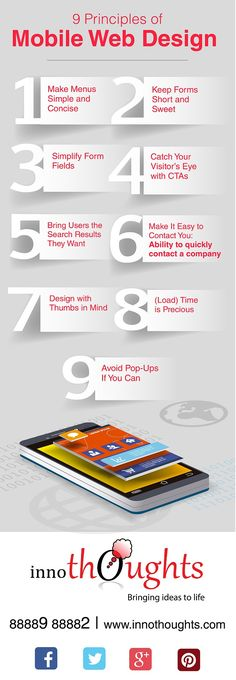 Design With Thumbs in Mind! 9 Principles for a Successful Mobile Website #Infographic