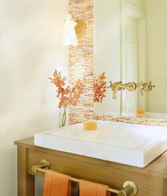 秋仕様のコーディネートでサニタリールームを穏やかな印象に
