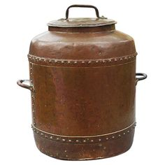 17th C Large Copper Container