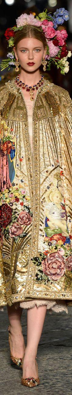 Dolce and Gabbana fall 2016 alta moda -couture