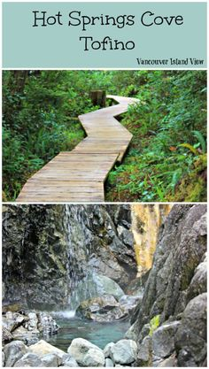 Springs Cove - Tofino Hot Springs Cove is a tour destination you should not miss while in Tofino on Vancouver Island.Hot Springs Cove is a tour destination you should not miss while in Tofino on Vancouver Island. Island Winter, Quebec, Places To Travel, Places To Go, Tofino Bc, Voyage Canada, Thermal Pool, West Coast Road Trip, Canadian Travel