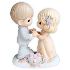 Precious Moments - I Fall In Love With You More Each Day 5th Anniversary Figurine.