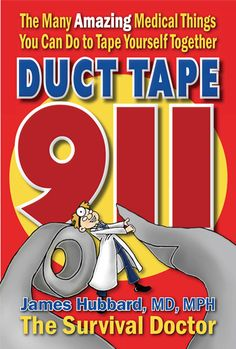 "BOOK REVIEW and GIVEAWAY: Duct Tape 911 | Real Food Living: ""A book dedicated to duct tape? Duct tape has been called the most important item you can store besides food and water. Why? Because duct tape can do so many things! We've all seen the lists on the internet about duct tape, but The Survival Doctor, James Hubbard, M.D.,M.P.H., has written a wonderful, informative book on the medical uses for duct tape. That's right, medical uses."" 