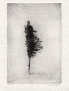 srrealizm art Wind III by Valdas-M on DaWanda Life Drawing, Painting & Drawing, Arte Grunge, Drypoint Etching, Dark Art Drawings, Pencil Drawings, Arte Sketchbook, Wow Art, Gravure