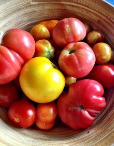 Heirloom tomatoes I grew last summer, 2013.