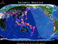 IRIS Seismic Map: Earthquakes like you've never seen them, and you can even listen to the rumble!