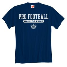 Pro Football Hall of Fame Essential Logo T-Shirt. Click to order! - $17.99