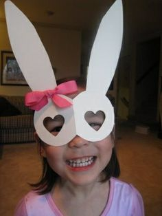 Easter Bunny Mask! So cute!