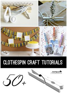 Clothespin Crafts to Make Over 50 Great Tutorials @savedbyloves