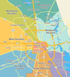 map of Houston Inner Loop Memorial area MAPS Houston Texas