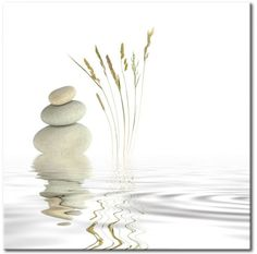 Cuadro en vidrio acrílico Stream of Relaxation [Glass]