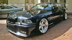 Black BMW coupe on cult classic OZ AC Schnitzer typ 1 Bmw Compact, Diesel, E36 Coupe, Ac Schnitzer, Bmw S, Bmw 3 Series, Hot Cars, Super Cars, Convertible