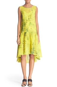 Tracy Reese Print Silk Flounce Dress available at #Nordstrom