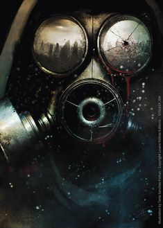 I'm glad to show you the cover of the role playing book STALKER edited by La Loutre Rôliste, a french editor. I'm working on it and I'll made all the illustrations of the book. If you wa. Post Apocalypse, Apocalypse Tattoo, Gas Mask Art, Masks Art, Tattoo Mascara, Metro 2033, Post Apocalyptic Art, Mask Tattoo, Graffiti Wallpaper