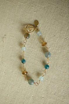Anne Vaughan Designs - Painted Desert Simple Gemstone Bracelet, $44.00 (http://www.annevaughandesigns.com/painted-desert-pearl-gemstone-wire-wrap-bracelet-for-women/)