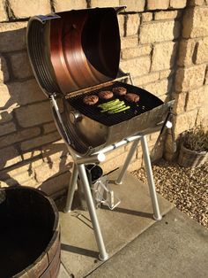 A few BBQs done now and there's a bit of colour in the steel. Also needs a good scrub and some ventilation in the lid.