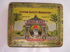Simon Arzt No 70L Large size Egyptian Cigarette tin (20/empty) by Egyptian cigarette Manufactory