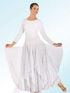 13677 Polyester Double Skirt w/Chiffon Wings $35.25