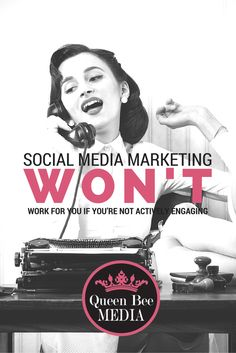 Social Media Marketing won't work for you if you're not actively engaging. Social Media Consulting Services for Businesses just like yours. Click to learn more. #socialmediamarketing #socialmedia #socialmediabranding #branding #digitalbranding #consulting