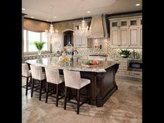 Elegant kitchen via Brambleberry Cottage.