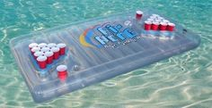 Amazon.com: The Air Pong Table - The Portable, Inflatable Beer Pong Table: Sports & Outdoors. Lifeguard not included. Overindulge at your own risk.