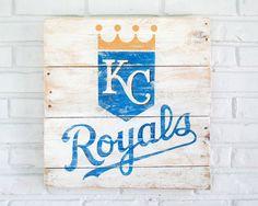 Kansas City Royals Baseball Sign by VintageSignDesigns on Etsy