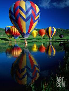 Hot Air Balloons, Snowmass, Colorado - photo by David Carriere