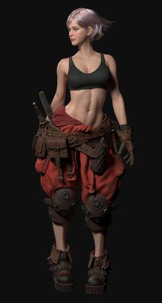 3d Model Character, Cyberpunk Character, Female Character Design, Character Modeling, Character Design Inspiration, Character Concept, Character Art, Female Armor, Fantasy Girl