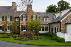 New house, Chester Springs, PA, Peter Zimmerman Architects Stone Houses, Rock Houses, House On The Rock, Country Estate, Types Of Houses, My Dream Home, Dream Homes, Exterior Design, Future House