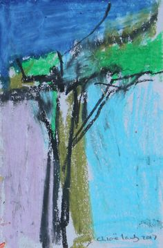 DISTANT EMERALD Oil and Pastel on Paper 7 1/2 x 5 in 19.1 x 12.7 cms Signed CL1363 Copyright The Artist