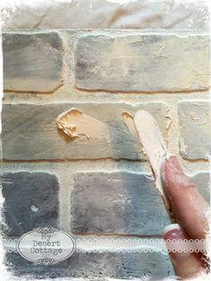 **My Desert Cottage**: Faux Brick Wall Tutorial
