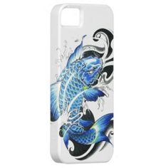 blue tattoo Japanese Koi Fish vintage iPhone 5 Cover
