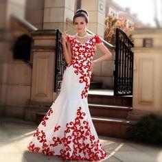 Luxury new red fishtail long evening dress Dress Illustration, Fashion Illustration Dresses, Fashion Sketches, Vintage Vogue Fashion, Gq Fashion, Jeans Fashion, Fashion Shoes, Long Wedding Dresses, Prom Dresses