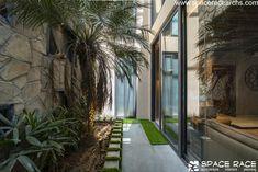 Indian Architecture, Amazing Architecture, Contemporary Architecture, Beautiful House Plans, Beautiful Homes, Waterfall House, Sanctum Sanctorum, Space Race, Courtyard House