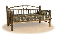 Log Trundle Bed, Rustic Day Bed, Cabin Furniture, Lodge Style | Woodland Creek Furniture